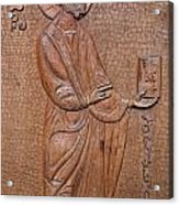Carved Wooden Door Of The Tsminda Sameba Cathedral Acrylic Print
