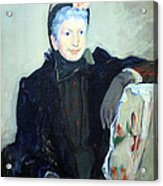 Cassatt's Portrait Of An Elderly Lady Acrylic Print