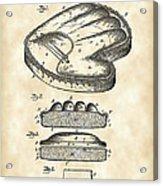 Catcher's Glove Patent 1891 - Vintage Acrylic Print