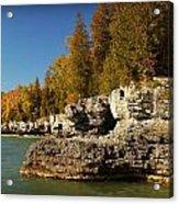 Cave Point County Park Door County Wisconsin Acrylic Print