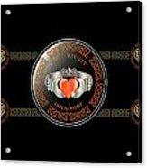 Celtic Claddagh Ring Acrylic Print