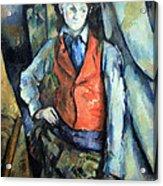 Cezanne's Boy In Red Waistcoat Acrylic Print