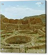Chaco Canyon Ruins Acrylic Print