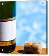 Champagne Bottle And Cork Acrylic Print