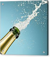 Champagne Exploding From Bottle Acrylic Print