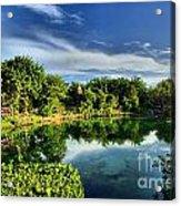 Chankanaab Lagoon Reflections Acrylic Print