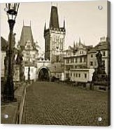 Charles Bridge In Prague Acrylic Print