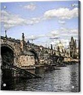 Charles Bridge Prague Acrylic Print