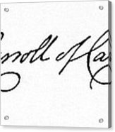 Charles Carroll (1737-1832) Acrylic Print by Granger