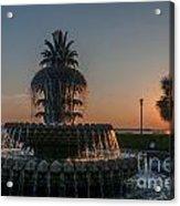 Pineapple Fountain Charleston Sc Sunrise Acrylic Print