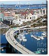 Charleston Waterfront And Marina South Carolina Acrylic Print