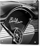 Chevrolet Belair Dashboard Clock And Emblem Acrylic Print