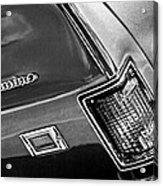 Chevrolet El Camino Taillight Emblem Acrylic Print