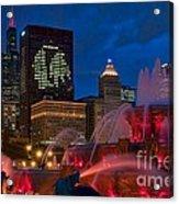 Chicago Blackhawks Skyline Acrylic Print
