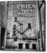 Chicago Theatre Alley Entrance Photo Acrylic Print