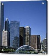 Chicago Skyline Acrylic Print by Rafael Macia
