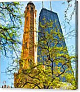 Chicago Water And Hancock Towers Acrylic Print
