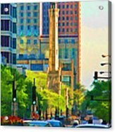 Chicago Water Tower Beacon Acrylic Print