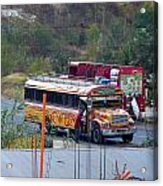 Chicken Bus In El Tizate Acrylic Print