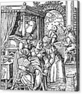 Childbirth, 1580 Acrylic Print