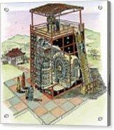 Chinese Astronomical Clocktower Built Acrylic Print
