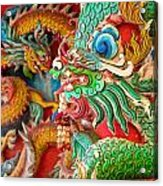 Chinese Temple Detail Acrylic Print