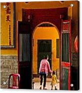 Chinese Temple In Ho Chi Minh Vietnam Acrylic Print