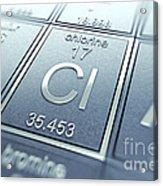 Chlorine Chemical Element Acrylic Print
