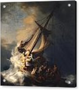 Christ In The Storm On The Sea Of Galilee Acrylic Print