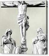 Christ On The Cross With Mourners Evansville Indiana 2006 Acrylic Print