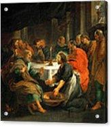 Christ Washing The Apostles' Feet Acrylic Print