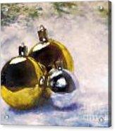 Christmas Balls Artistic Vintage Painting Acrylic Print
