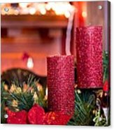 Christmas Candles Acrylic Print