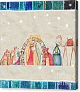 Christmas Nativity Scene Acrylic Print