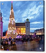 Christmas Time In Warsaw Acrylic Print