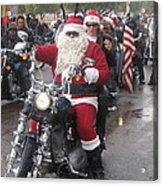 Christmas Toys For Tots Santa On Motorcycle Casa Grande Arizona 2004 Acrylic Print