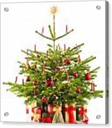Christmas Tree Decorated With Presents Acrylic Print