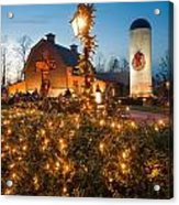 Christmas Village Decorations Acrylic Print
