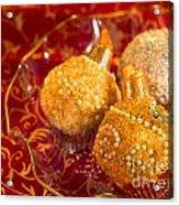 Christmasball Cupcakes Acrylic Print
