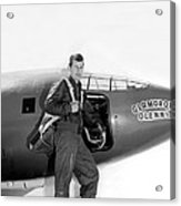 Chuck Yeager And Bell X-1 Acrylic Print