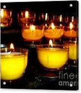 Church Candles Acrylic Print