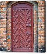 Church Door 02 Acrylic Print by Antony McAulay