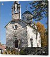 Church In Cetinje Montenegro Acrylic Print