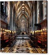 Church Interior Acrylic Print