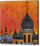 Church Sunset Acrylic Print