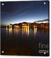 Cinque Terre At Night Acrylic Print