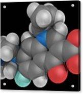 Ciprofloxacin Drug Molecule Acrylic Print