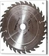 Circular Saw Blade Isolated On White Acrylic Print by Handmade Pictures