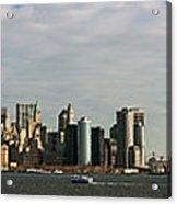 City At The Waterfront, New York City Acrylic Print