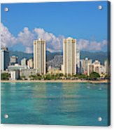 City At The Waterfront, Waikiki Acrylic Print